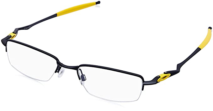 a41173c133 Image Unavailable. Image not available for. Colour  Oakley Half Rim  Rectangular Men s Spectacle Frame ...