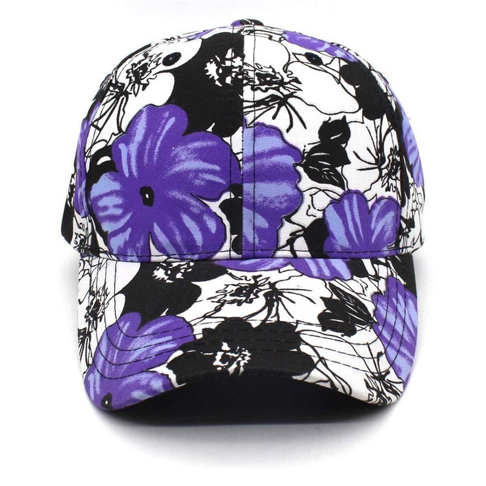 A-YSJ Baseballm/ütze //Lady Hat Flower Print im///Freien Bent Cap