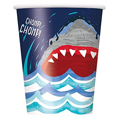 Unique Shark Party Cups, 8 Ct.: Toys & Games