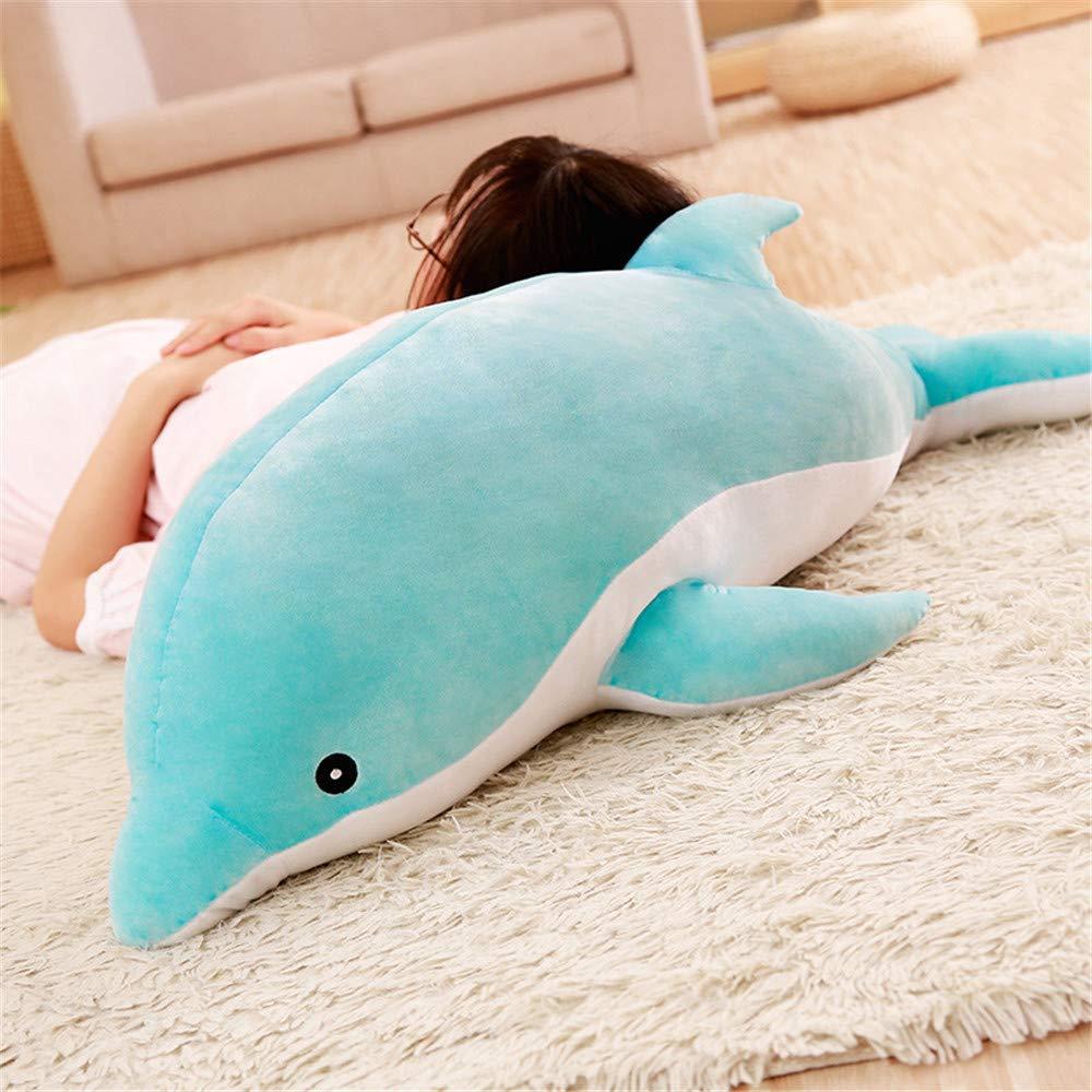 Peluche Delfino Cuscino Morbido lzpoyaya Peluche Dolphin Doll Peluche Regalo di Natale per Bambini Bambino 1000 cm 1 pz Blu
