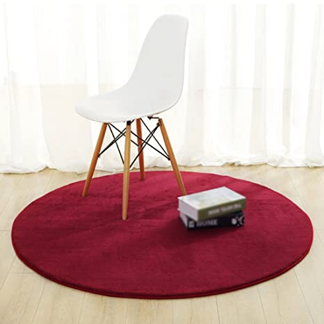 amazon com area rugs round solid color wine red carpet computer