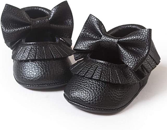 Soft Cute Bowknot Baby Boy Girls Toddler Infant Moccasins Tassel Shoes