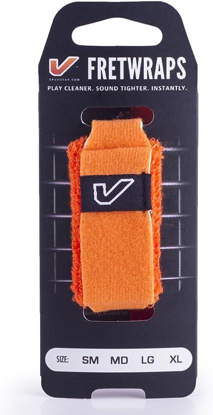 Large Orange Gruv Gear FretWraps HD 3-Pack Flare Guitar String Muters