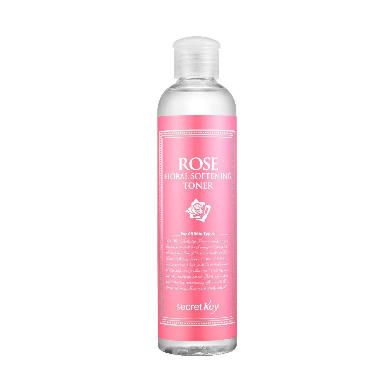 Secret Key Milk Brightening Toner 248ml Lustrous Starting Treatment Essence 7 Ml Rose Floral Softening For Sensitive Dry Delicate