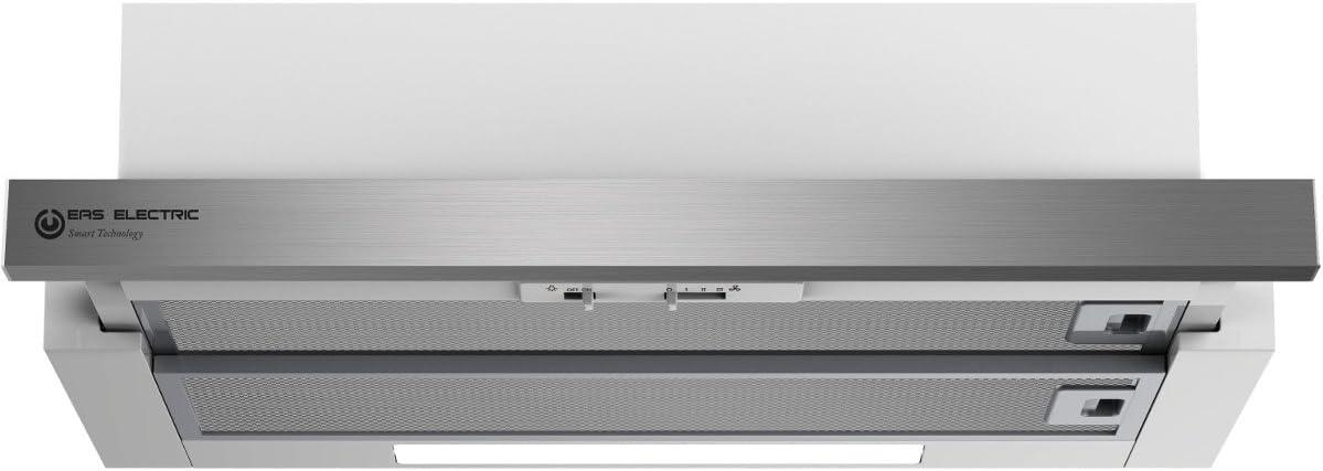 Campana Inox Eas Electric EMRH60TX 60 cm led 3 niveles: Amazon.es ...