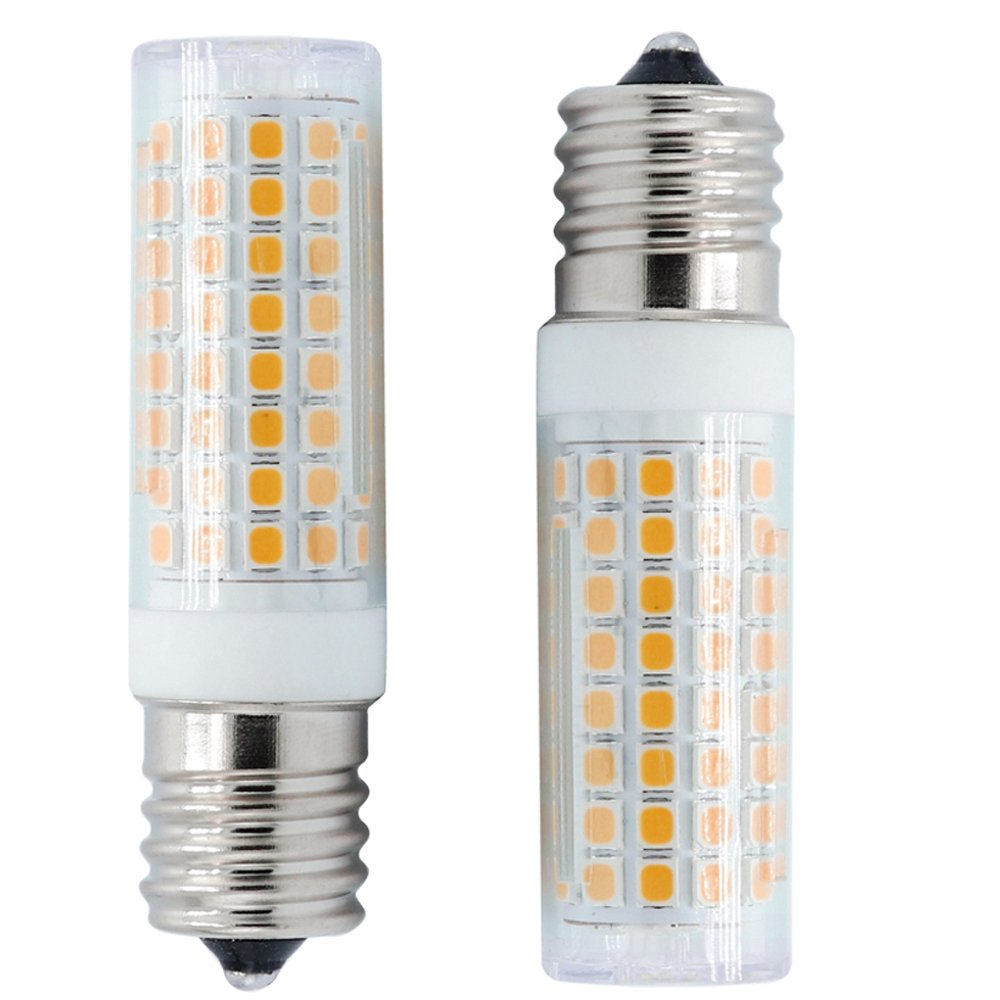 E17 Intermediate Base, Dimmable E17 LED Bulbs, 120V 7 Watt Warm White 2800K, 75W E17 Halogen Bulbs Equivalent, for Inoor Lighting, Ceiling Fan, Above Microwave Oven Bulb