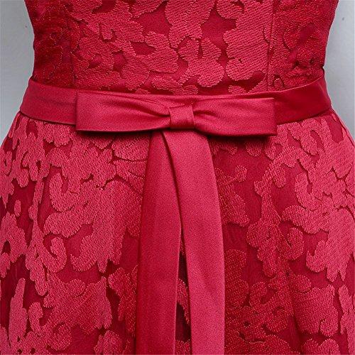 Drasawee Kleid Rot Linie Damen A vI6wxvtr