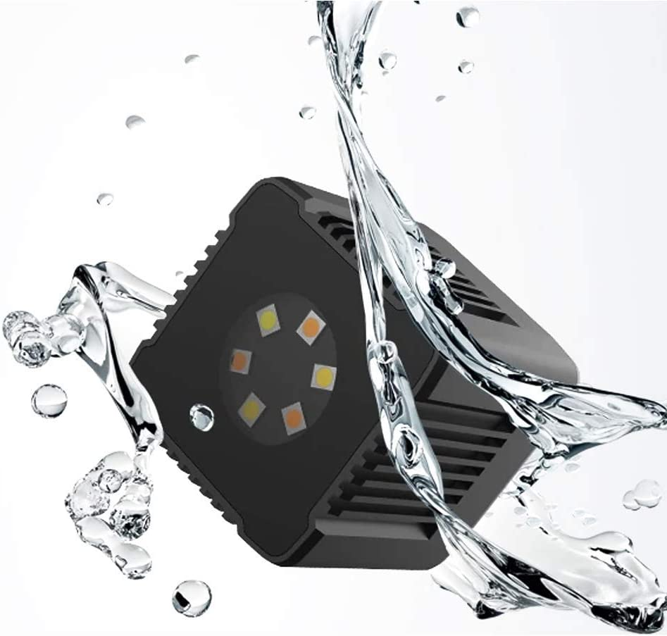 Sutefoto Mini Cube Led Luz de Bolsillo Video de Cámara Recargable a Prueba de Agua