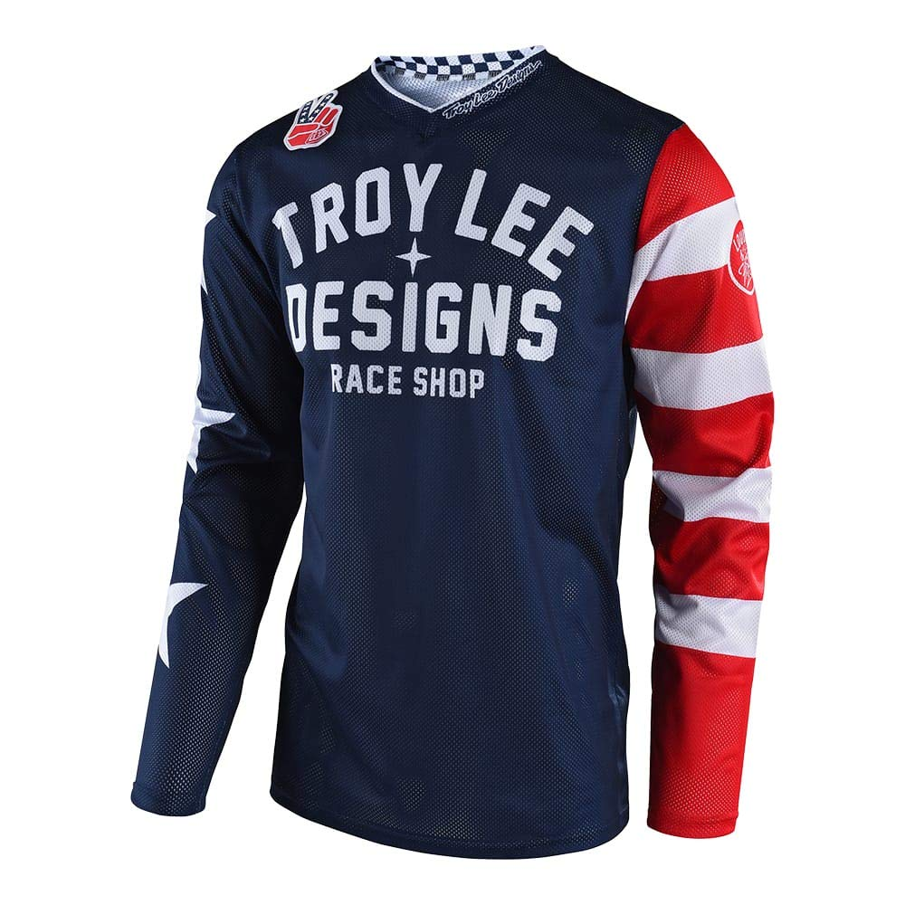 Troy Lee Designs Youth Kids GP Air Jersey Americana (X-Small, Navy)