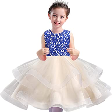 a3a15ba46163 MCERMR Baby Little Girls Tutu Dress Kids Girls Holiday Princess Dresses for  1-8 Years: Amazon.co.uk: Clothing