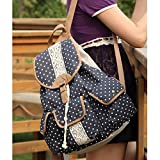 DAKIA-Cute-Girls-Canvas-and-PU-leather-Backpack-for-School-TravelDaily-use