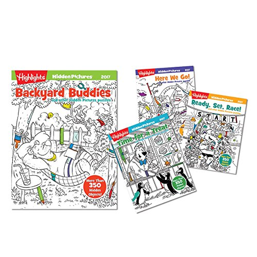 Highlights Hidden Pictures 2017 - 4 Book Set , Educational Books Toys, 2017 Christmas Toys