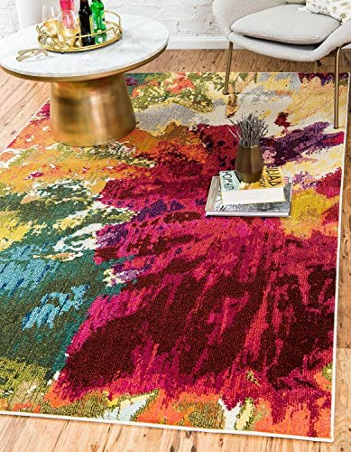 Unique Loom Estrella Collection Colorful Abstract Multi Area Rug 7 0 x 10 0