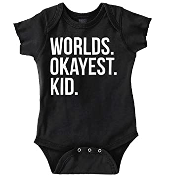 43a3dac5b776 Image Unavailable. Image not available for. Color  Brisco Brands Worlds  Okayest Kid Children Best ...