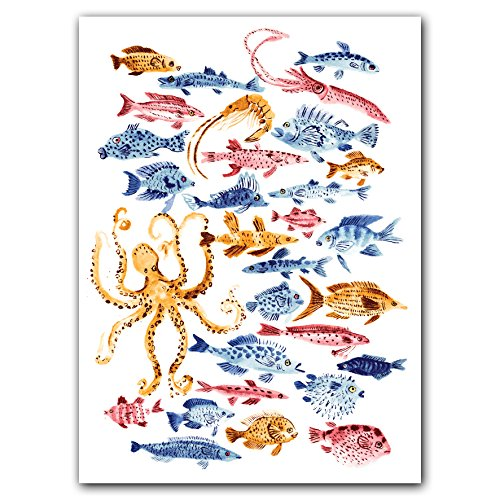 Ocean Dwellers Notecard Box Two-Piece Gift Box of Museum Quality All Occasion Notecards