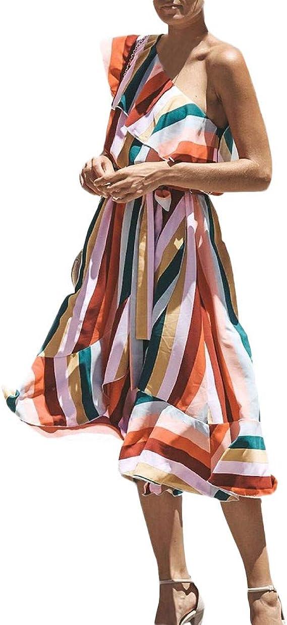 KIMODO Damen Kleider Elegant Party Kleider Sommer /Ärmellos Kurz Bodycon Minikleid Club eng Weste Abendkleider