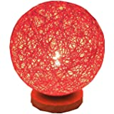 BOKT Minimalist Solid Wood Table Lamp Bedside Desk Lamp Colourful Home Decor Rattan Ball Round Lampshade