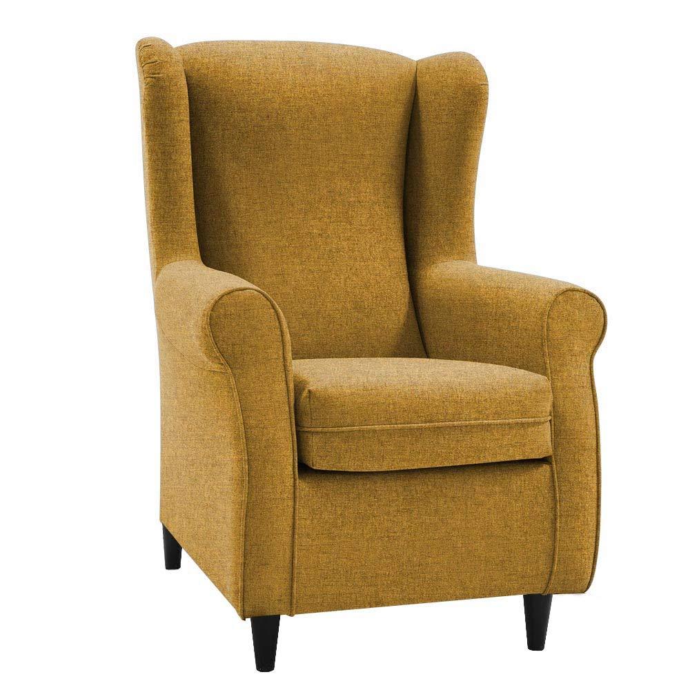 HOGAR TAPIZADO Butaca sillón orejero Nadia Tapizado en Microfibra Water Repellent Medidas:100 x 72 x 74 (Antracita)