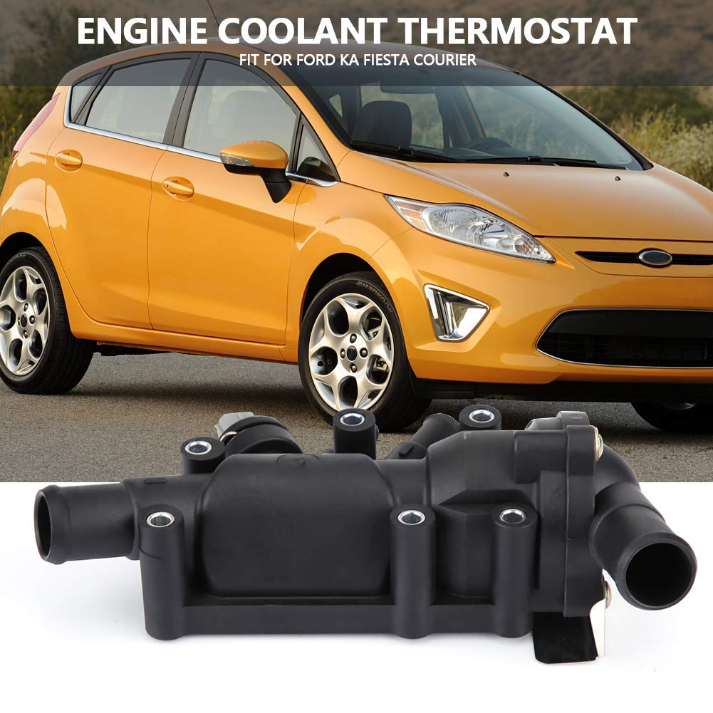 Amazon.com: XS6E8A586AG Engine Coolant Thermostat & Housing & Sensor for FORD KA FIESTA COURIER: Automotive