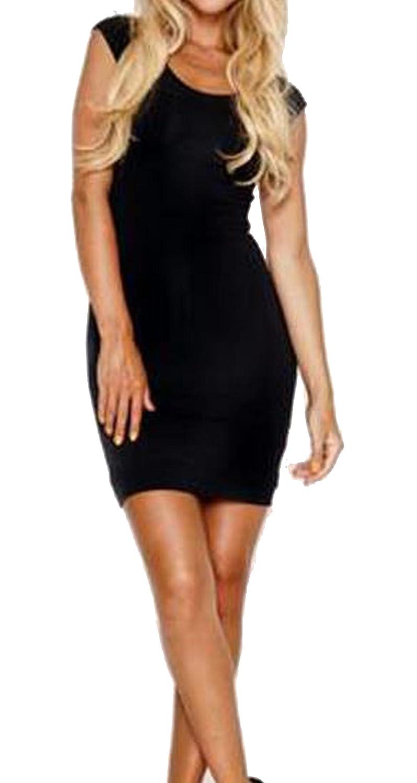 Liva girl Womens Sleeveless Backless Slim Sexy Bodycon Dress