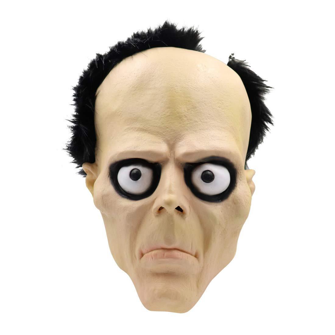 Meetsunshine Halloween Halloween Mask, Fancy Scary Head Mask Latex Man Horror Masks Party Cosplay Props by Meetsunshine Halloween