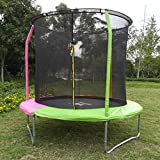 KLB Sport 8-Feet Round Trampoline with Safety Enclosure, Age 6+