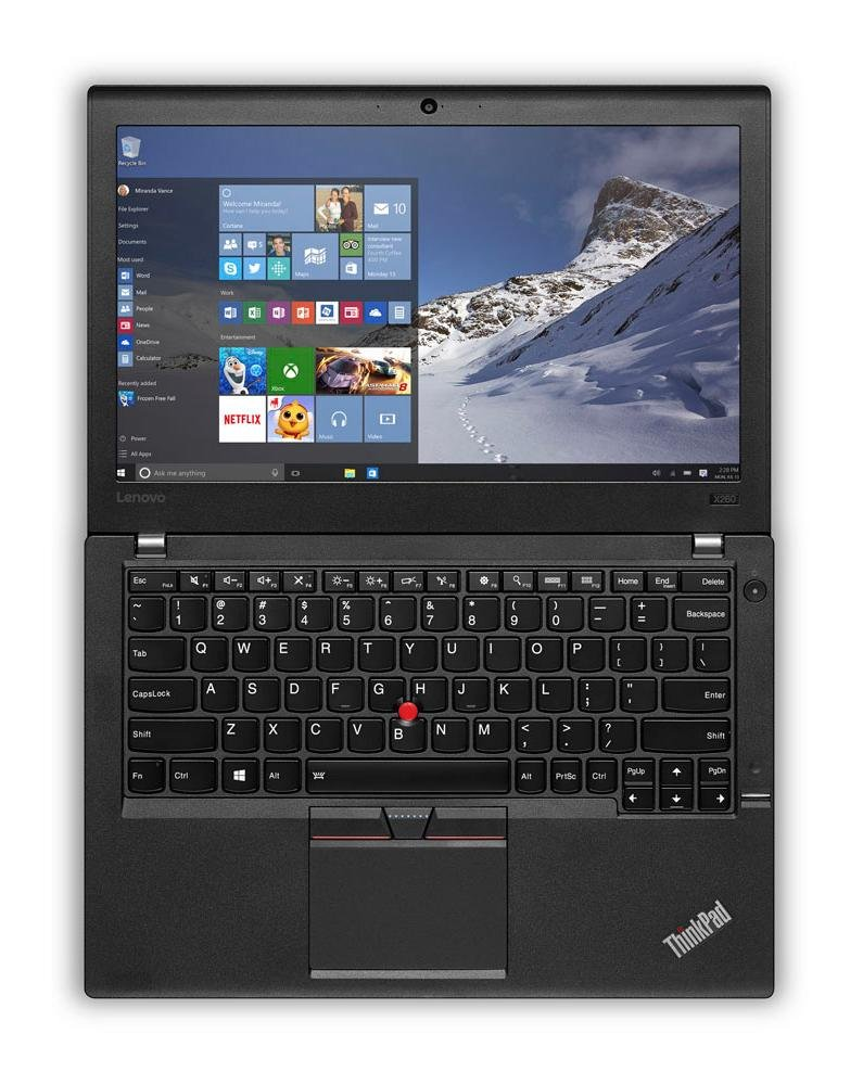 Lenovo ThinkPad X260 Business Laptop 12.5 IPS Anti-Glare FHD 1920×1080 , Intel Core i7-6600U, 256GB SSD, 16GB DDR4, Backlit Keyboard, FP Reader, Windows 7 Pro Upgradeable to Win 10 Pro