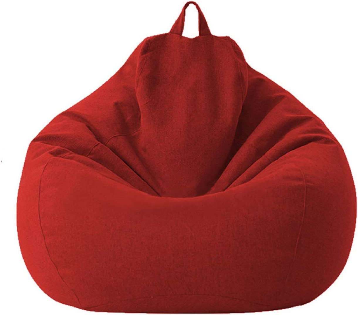Mekiyo Bean Bag Sofa Chairs Cover, Classic Lazy Lounger Bean Bag Storage Chair for Adults and Kids for Home Garden Lounge Living Room Indoor Outdoor(Red 01, 27.531.5 in)