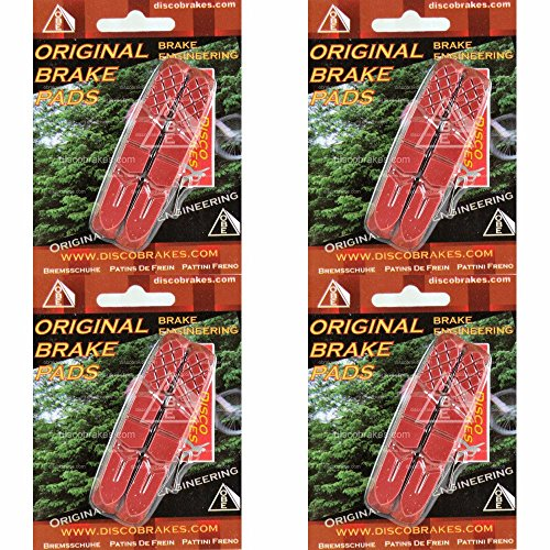 V-brake Performance Pads (4Pr/8Pads Replacement Red Tri-Performance Pads compatible with 72mm V Brake)