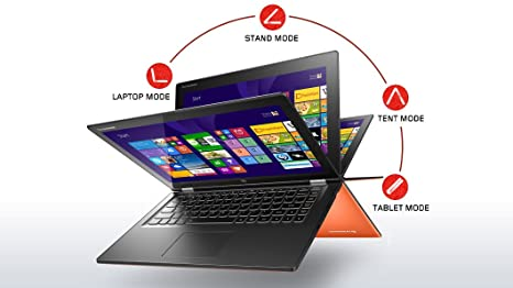 Lenovo Yoga 2 13(MultiTouch) - 59408077 - Clementine Orange - 4th Generation Intel Core i5-4200U (1.60GHz 1600MHz 3MB)