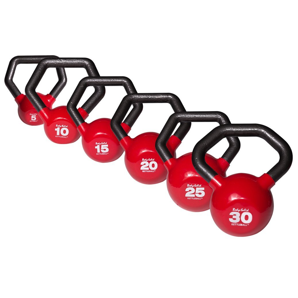 Body Solid Iron KBLS105 Vinyl Kettleball Set