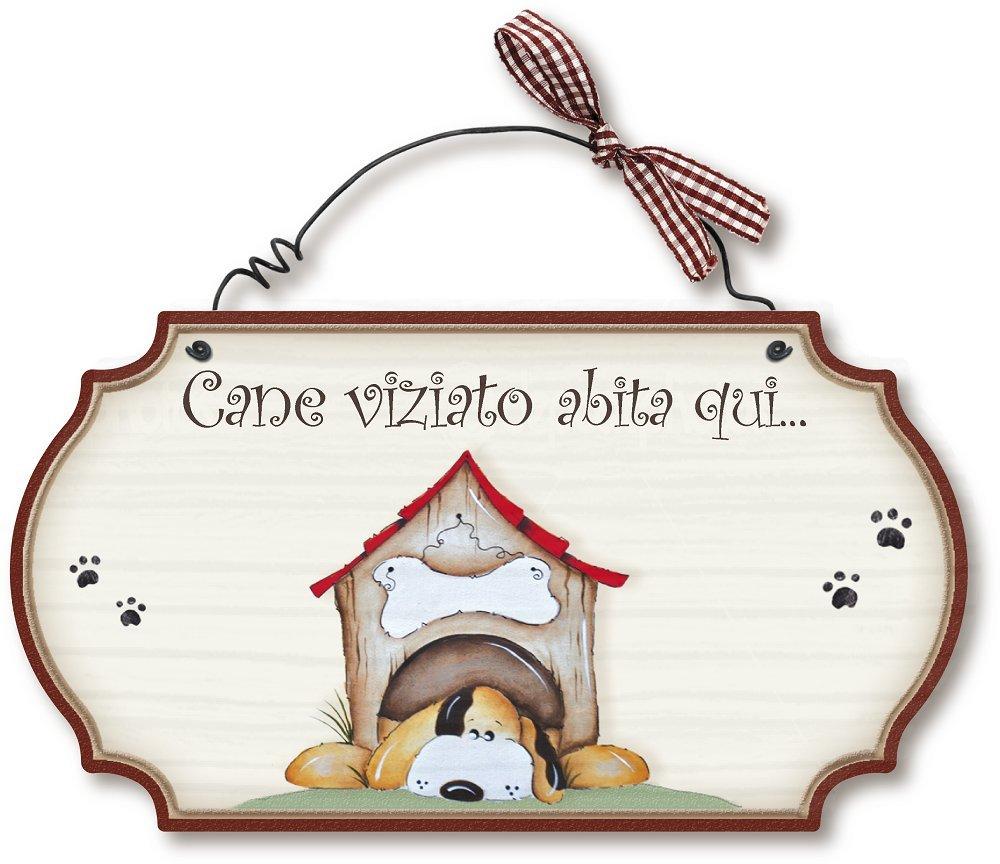 Dekori by Aracne Italy Targhette Country in Legno da Appendere Cane VIZIATO Aracne Italy srls Aracne Italy_4558