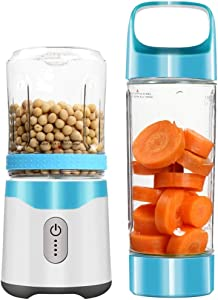 LSNLNN Portable Blender USB Juicer, Rechargeable Travel Juice 350ML 500ML 6 Blades Baby Food Mixer, Ice Smoothie Drop Shipping a/Blue/As Shown