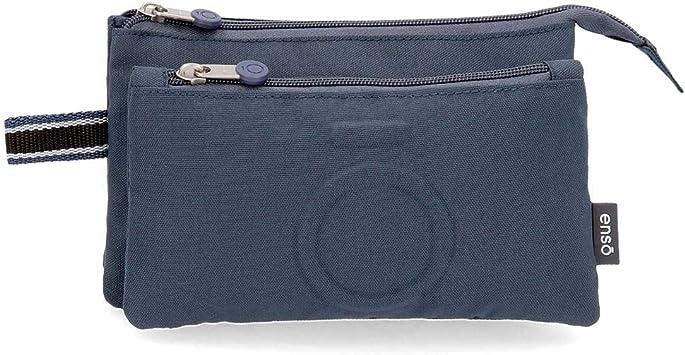 Estuche Tres Compartimentos Enso Basic Azul: Amazon.es: Equipaje