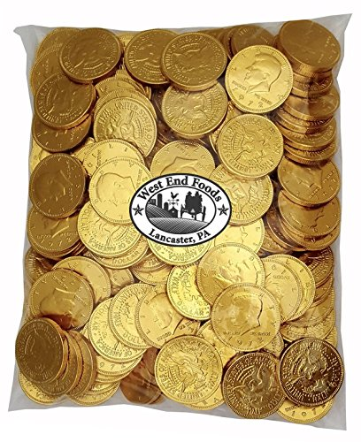 Bulk Milk Chocolate Gold Coins Candy (5 lbs) for Kids