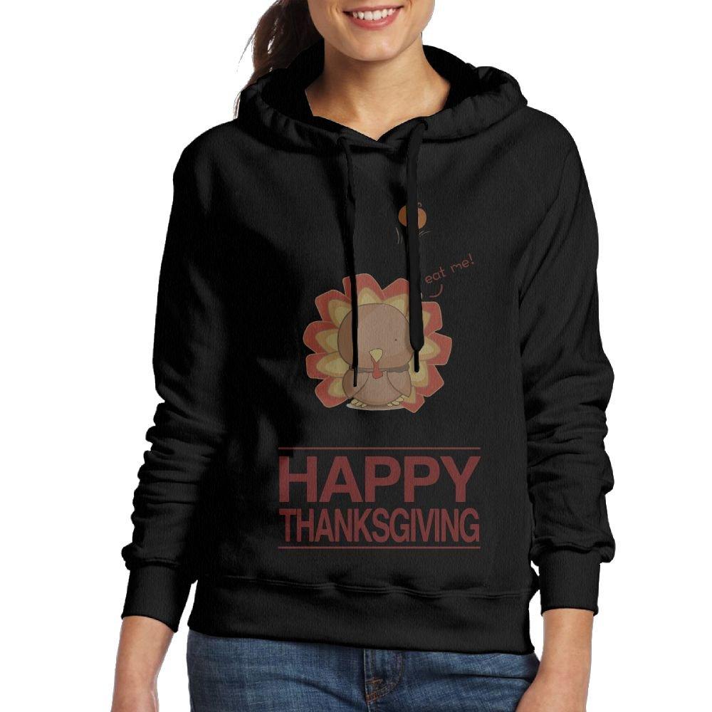Wxf Womens Happy Thanksgiving Fashion Walk Black Fleece