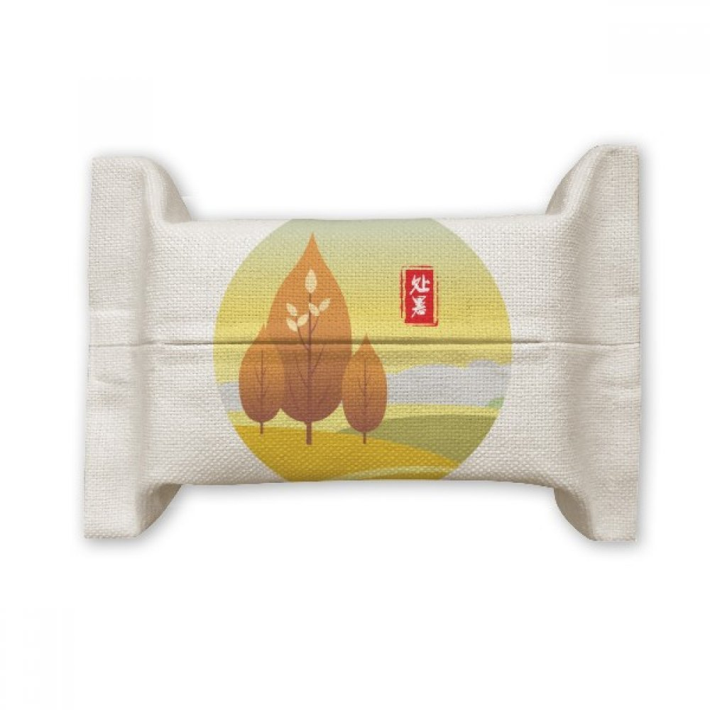 DIYthinker Stopping Heat Twenty Four Solar Term Cotton Linen Tissue Paper Cover Holder Storage Container Gift