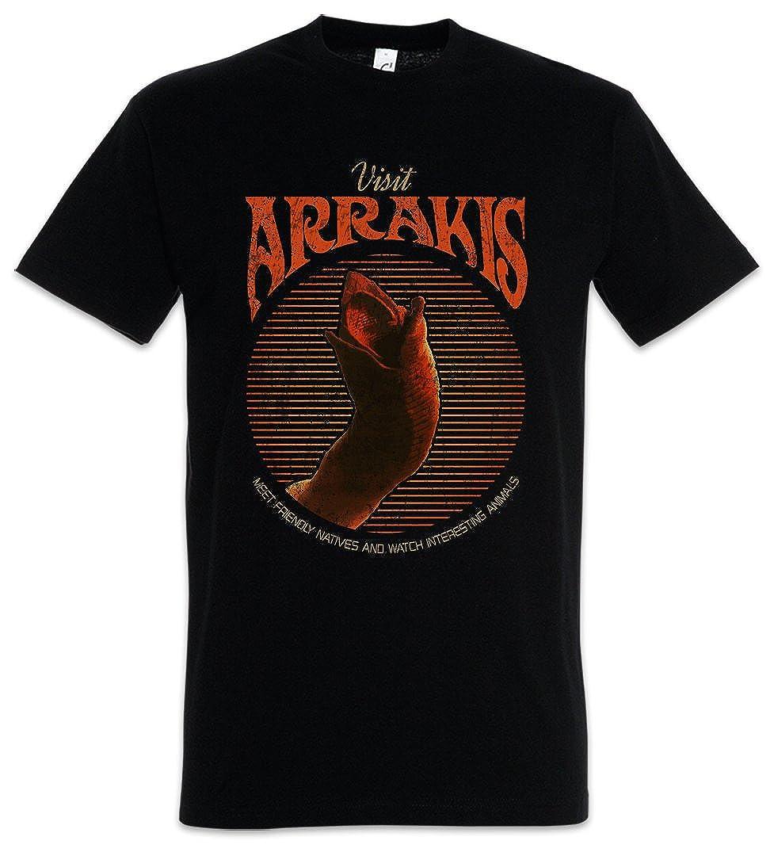 Urban Backwoods Visit Arrakis T-Shirt Sandworms Dune Harkonnen Spice Harkonnens Sandworm Taglie S 5XL