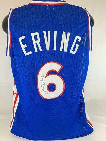760be10b153 Julius quot Dr. J quot  Erving signed Custom Basketball Blue Jersey WITNESS  COA AUTO -