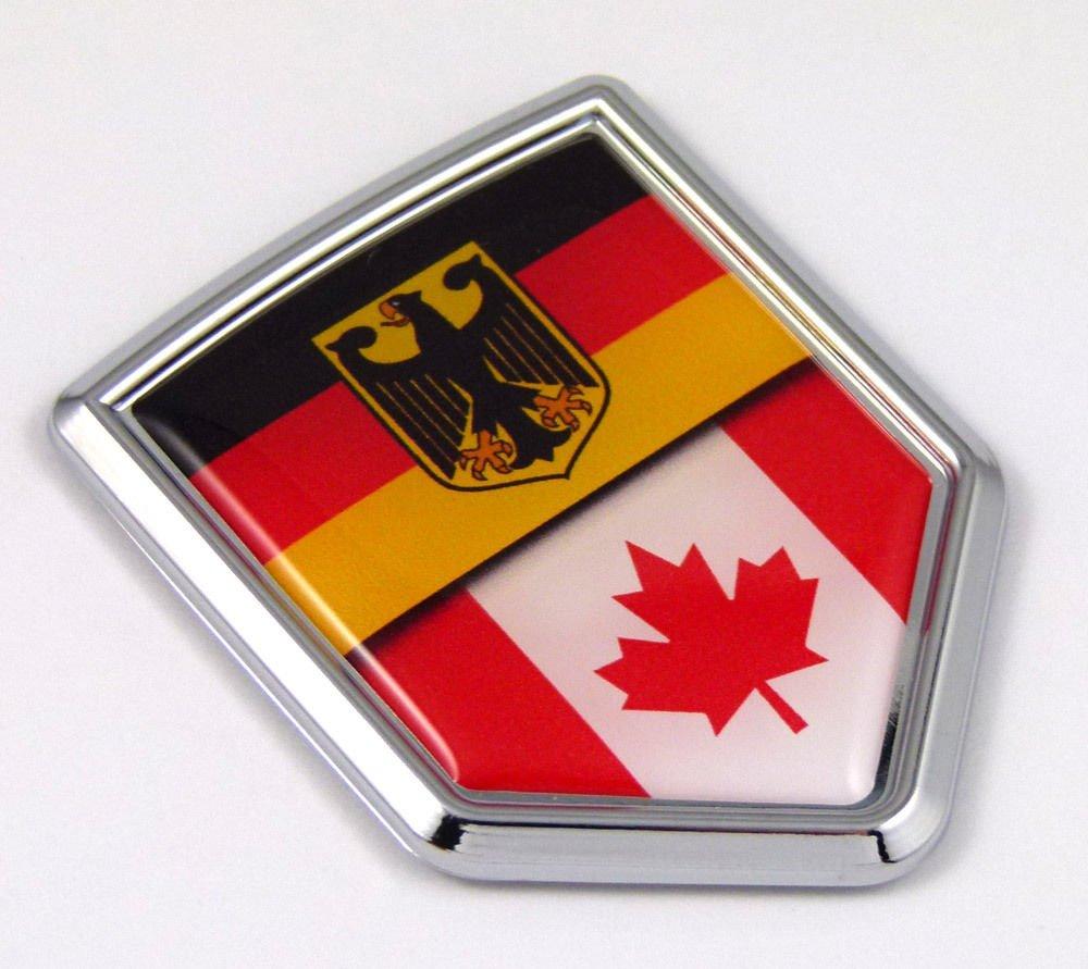 Germany Canada German Canadian Flag Car Chrome Emblem Decal bike bumperSticker Car Chrome Decals