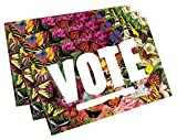 State Butterflies''Vote'' Postcards. Perfect for Writing to Your Representatives or Get Out the Vote Campaigns like Postcards to Voters (100)