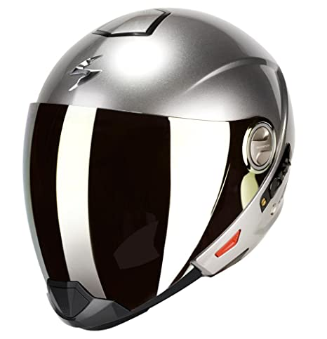 Casco Scorpion Exo-300 Air Solid System Hyper argento