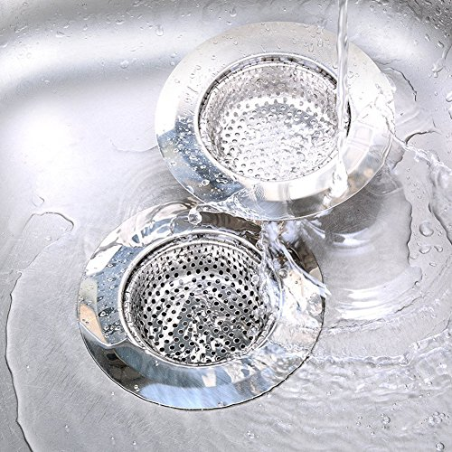 ECHI 2PCS Stainless Steel Sink Strainer,Perfect for Kitchen Sinks With Large Wide Rim 4.5