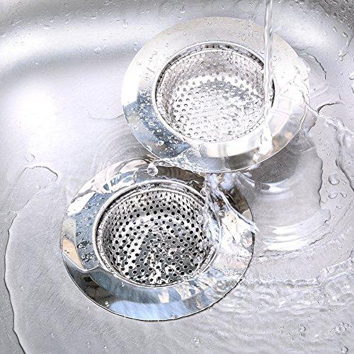 2pcs stainless steel kitchen sink drain strainer large - Kitchen sink rim ...
