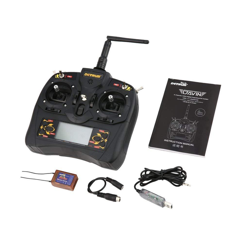 FCGV Detrum 2.4g GAVIN-6C 6CH Funksystem Sender RXC7-Empfänger - Schwarz B07NVDBQZ2 Helikopter Haltbarkeit | Ausgezeichneter Wert