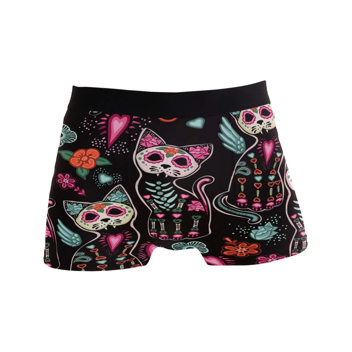 ZZKKO Skull Mens Boxer Briefs Underwear Breathable Stretch Boxer Trunk with Pouch S-XL