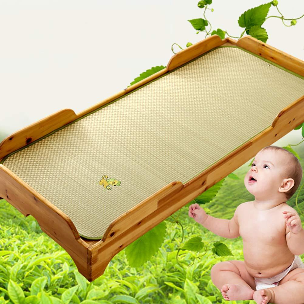 GWW Baby Cool Mattress,Summer Breathable Sleeping Pad Folding Rattan Crib Mat Nap Mat for Kindergarten-a 60x120cm(24x47inch)