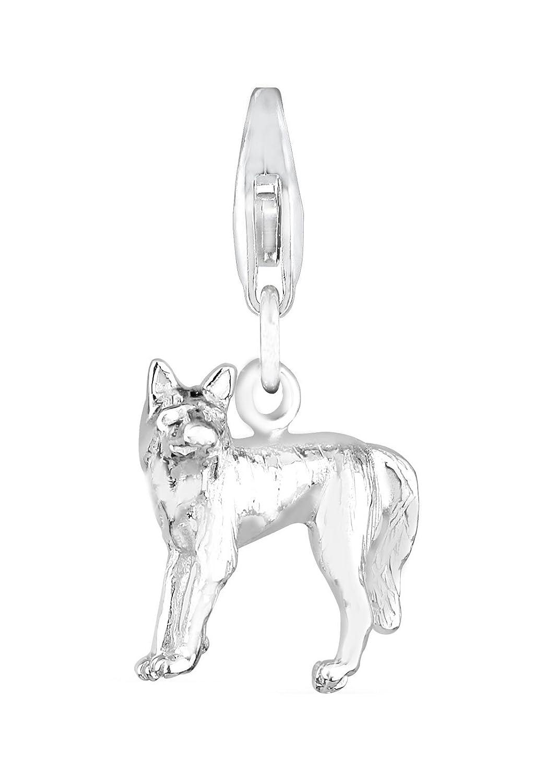 Elli Damen-Charm Charmanhänger Wolf Natur Tier Stärke Kraft Kraftsymbol Teamplayer silber 925 408352311 B0065U3QXM