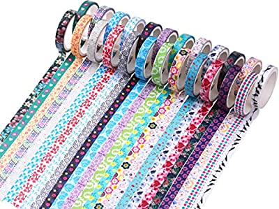 Washi Tape Set 24 Rolls Decorative Masking Tape for Craft Scrapbooking Gift Wrap from Mooker