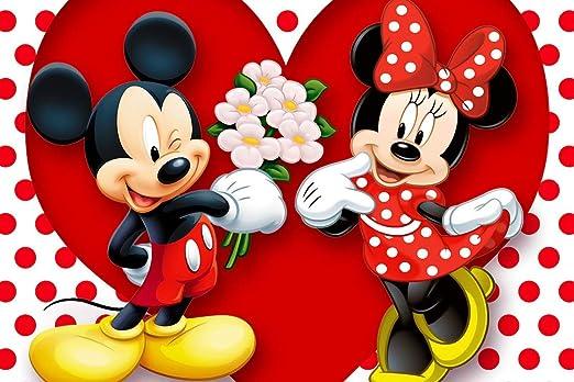 Amazon Com Art Mickey Minnie Mouse Flowers And Romance